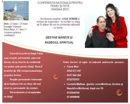 Ligia şi tibi conferinţă 2013